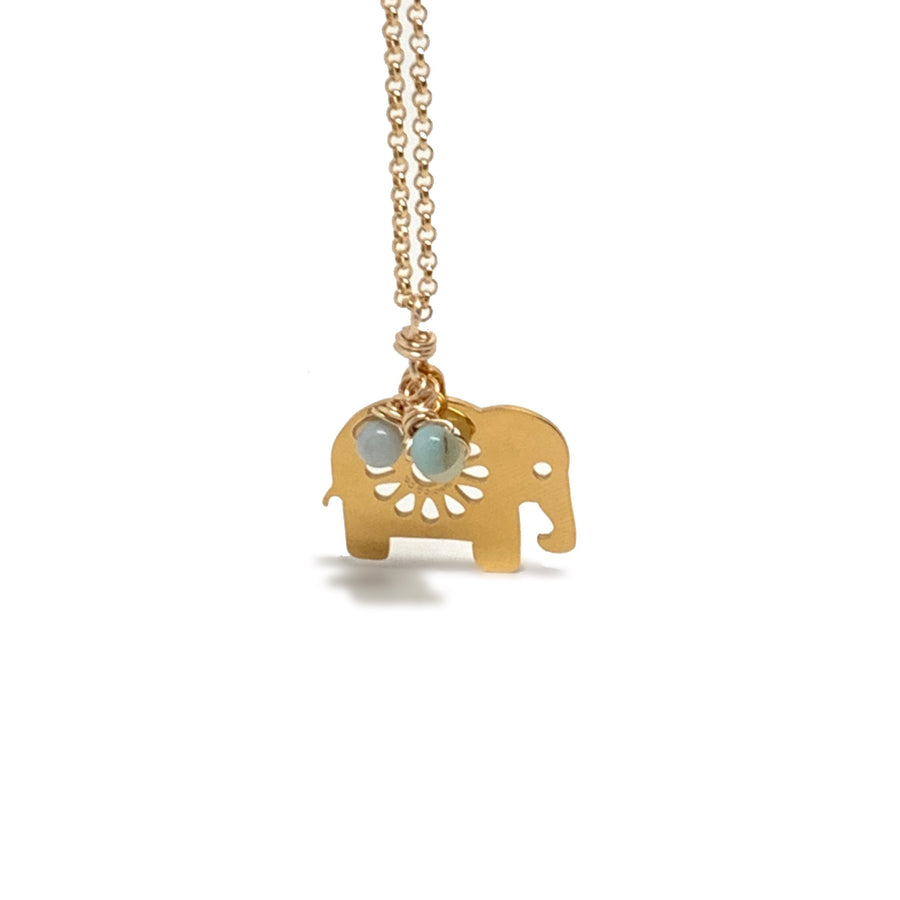 Elephant & Jade Necklace