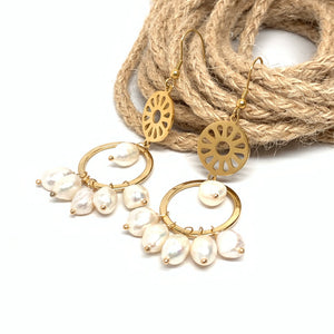 Hoops & Pearls Signature Earrings