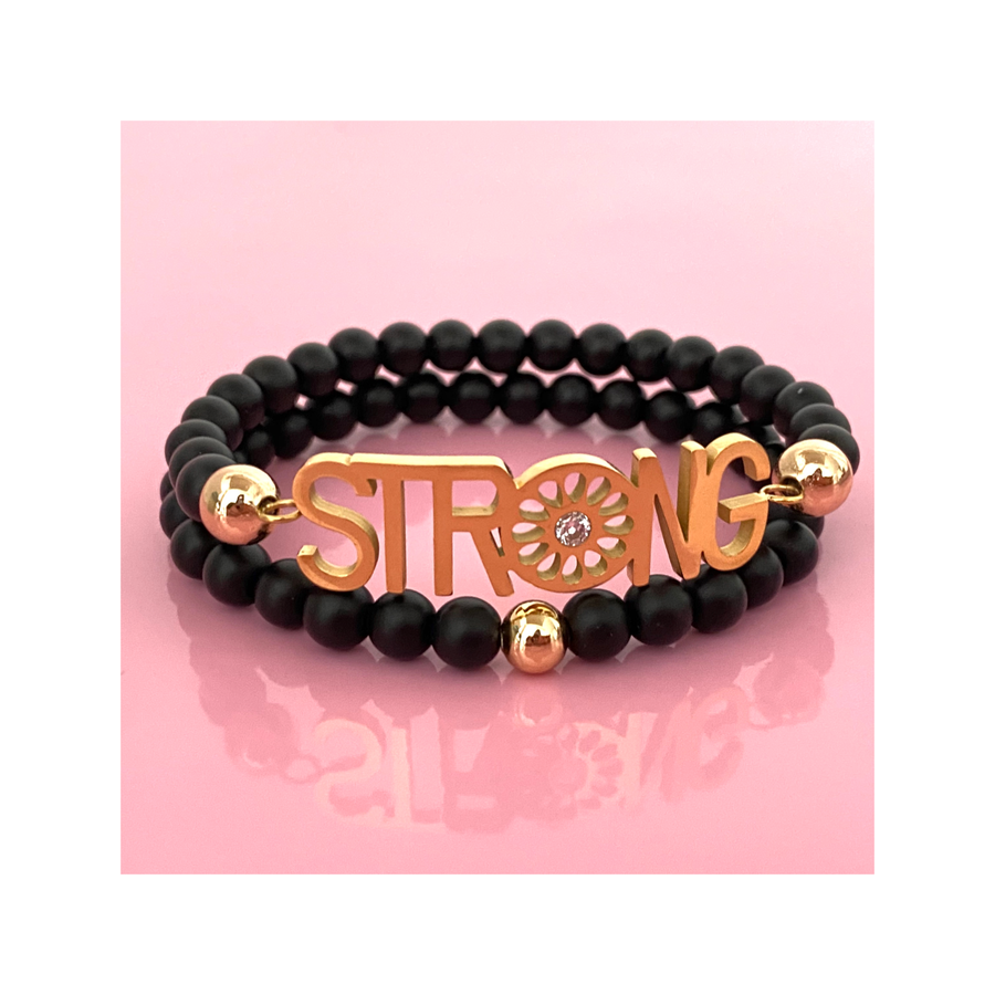 STRONG DUO / Black Stone Bracelet