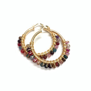 Medium Hoops / Multicolor Jade