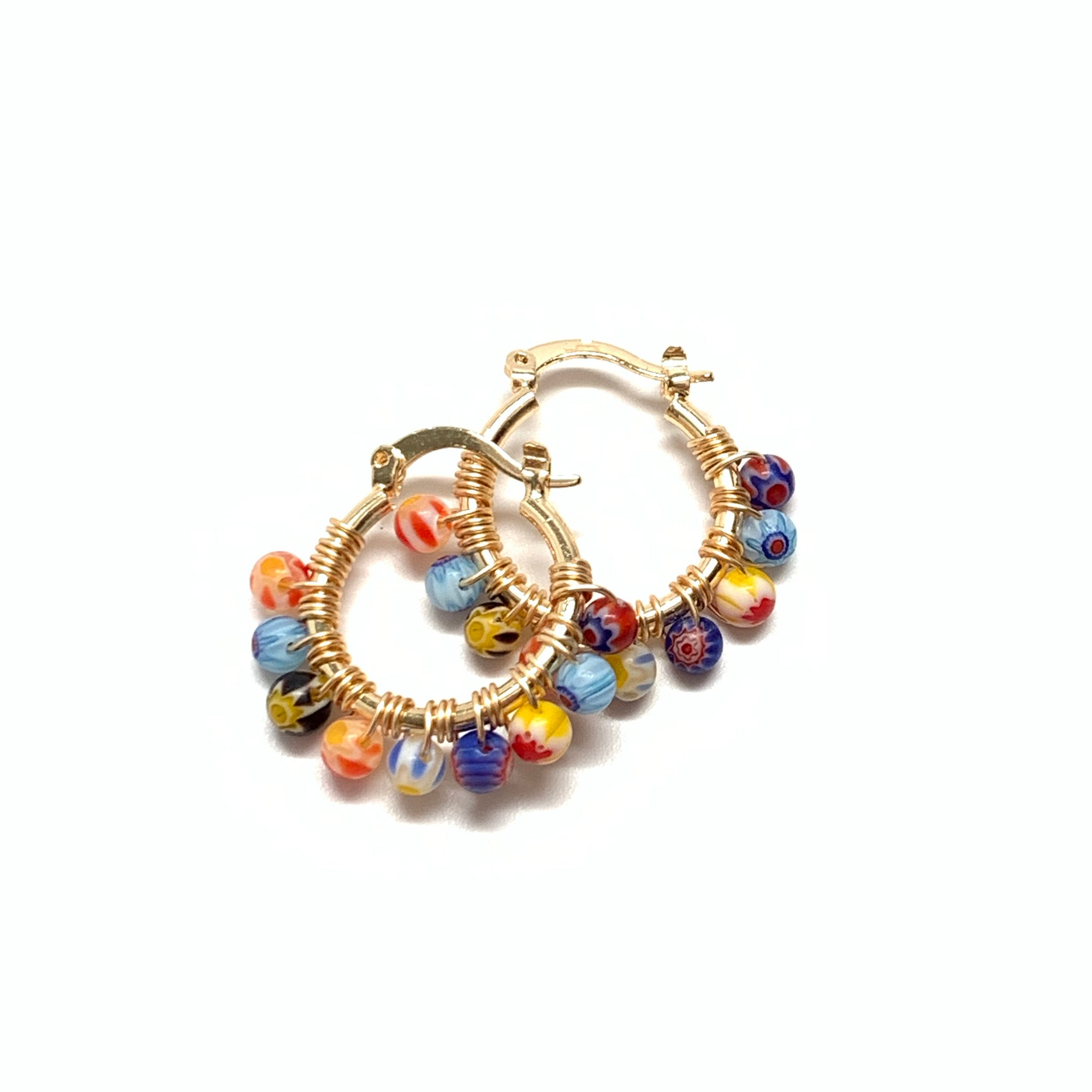 Millefiori Small Hoops