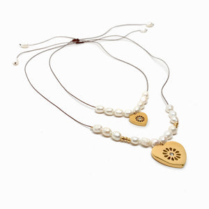 Collares True Love Ajustables con Perlas