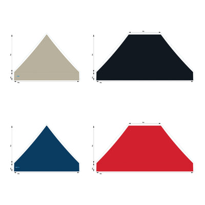 10x15 Foot Topper 500D Solid Colour