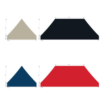 10x20 Foot Topper 500D Solid Colour
