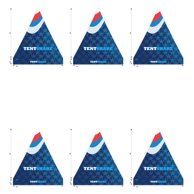 20x20 Hexagon Popup Tent Topper Custom Printed 600D
