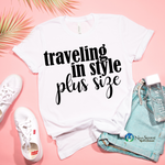 Traveling in Style; Plus Size T-Shirt