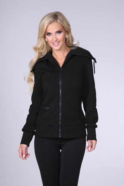 CF8026 Fleece Zip-up Jacket - FashionPosh