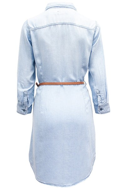 CTP96 Tencel Shirtdress W/Belt ( More Colors) - FashionPosh
