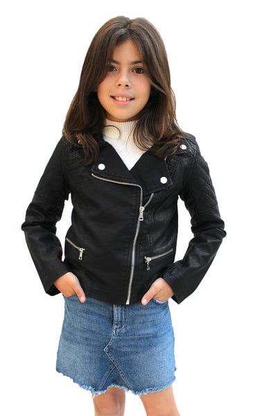 KD26 Kids Biker PU Leather Jackets - FashionPosh