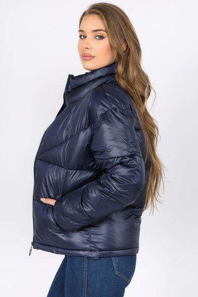 Warm Nylon Puffer Jacket - FashionPosh