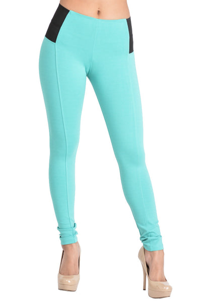 P800/R051 Ci Sono High Waist Ponte Leggings (More color options) - FashionPosh