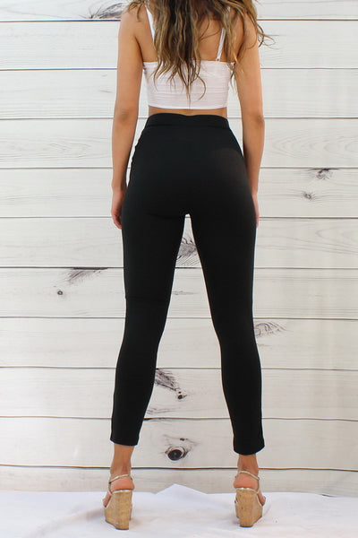 Ci Sono Button Down Ponte Leggings