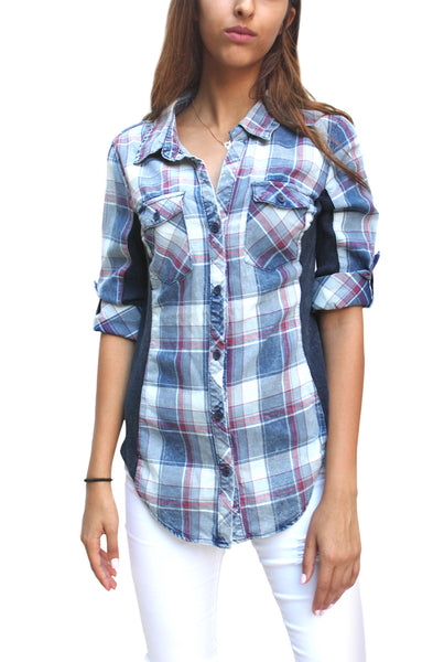 PTP18 Ribbed Plaid Shirt - FashionPosh