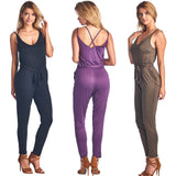 RP750 Knit Jumpsuit Long Pants (More color options) - FashionPosh