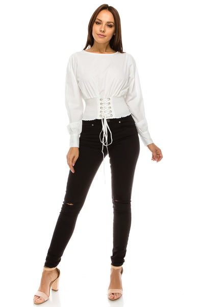 WTP15 Lace Up Top