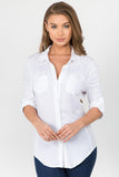 Button Down Shirt w/ Contrast Rib (More Colors) - FashionPosh