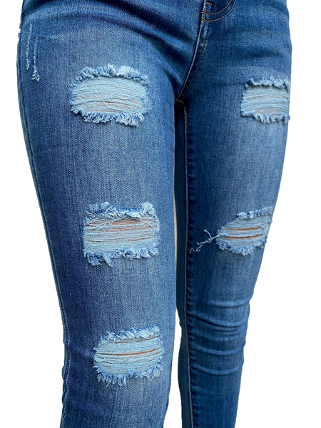 CiSono Ripped Sculpting Denim Jeans