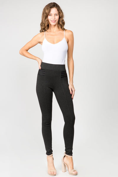 CiSono Ponte High Waist Leggings - FashionPosh