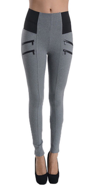 P9364 Ci Sono Elastic High Waisted Leggings