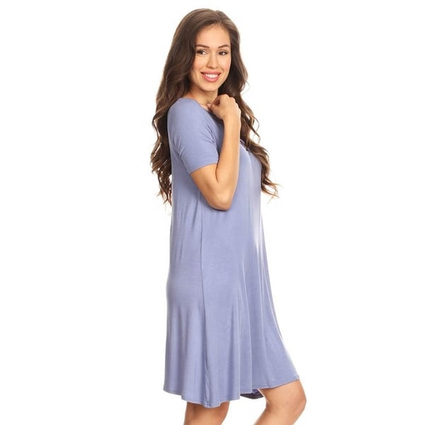 Crossed Strap Front Swing Dress 2018