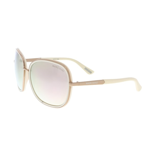 Guess by Marciano GM0734 28G Cream/Gold Rectangular Sunglasses