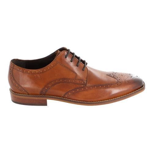 Men's Florsheim Castellano Wing Tip Saddle Tan Smooth Leather 2018