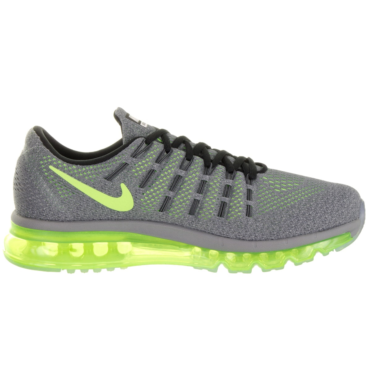 Nike Men's Air Max  Grey Synthetic Leather Running Shoes