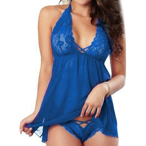 Sexy Lace Lingerie Babydoll Sleepwear Underwear G-string for Ladies