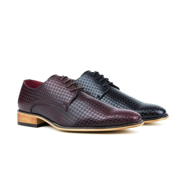 UV Signature Men's Lace Up Diamond Cut Dress Shoes