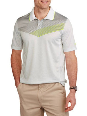 Russell Men's Printed Mesh Back Performance Active Polo
