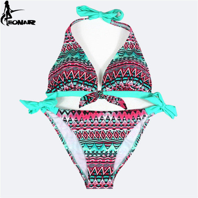 Swimwear Women  Print Floral Swimsuit Push Up Bikini Set  Bathing Suits Brazilian Bikinis Women Swimwear Beach Wear Biquini
