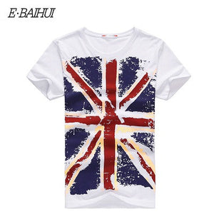 E-BAIHUI Brand Cotton men Clothing Male Slim Fit t shirt  Man T-shirts Casual T-Shirts Skateboard Swag mens tops tees Y001
