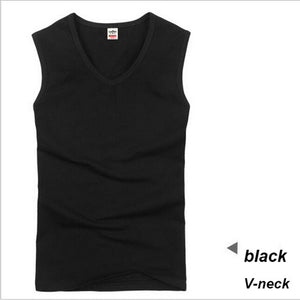 Cotton Big Size Summer men clothing Tank Tops Black White Gray Singlets Sleeveless fitness men vest Bodybuilding t shirt
