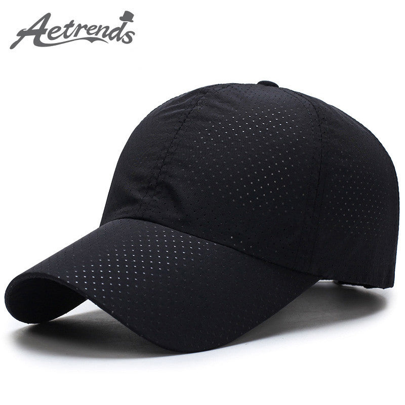 [AETRENDS] Men/ Women Summer Snapback Quick Dry Mesh Baseball Cap Breathable Hats