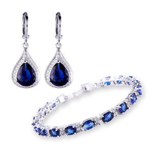 MOLIAM Fashion Style Jewellery Sets Silver Color Zirconia Stone Earrings Bracelets Set Costume Jewelry MLE051f+MLL120c