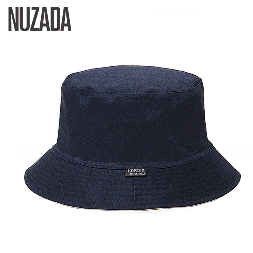 NUZADA Sunscreen Men Women Bucket Hat Caps Summer Autumn Solid Color Fisherman Panama High Quality Cotton Simple Hats