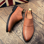 New Arrival Mens Formal Dress Brogue Shoes Luxury Brand Pointed Toe Leather Oxfords