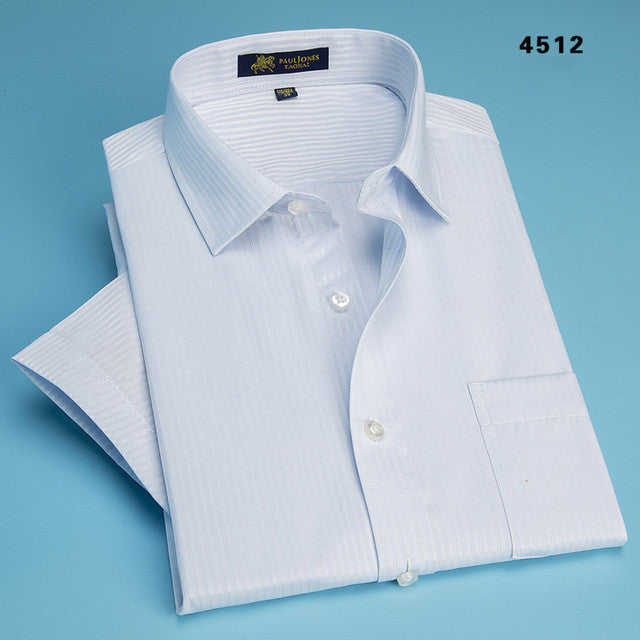 Short Sleeve Summer Men Shirts Striped Color Casual Business Man Shirt Casual Male Plus Size S - 4XL Mens Shirt camisa masculina