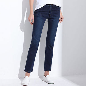 Women Jeans Large Size  High Waist Autumn Blue Elastic Long Skinny Slim Jeans Trousers For Women 27-38 Size Y323