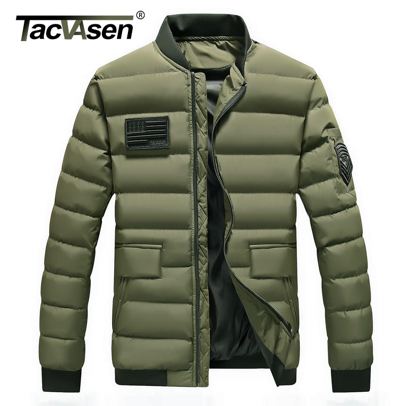 TACVASEN Men Winter Tactical Jacket Army Thermal Military Jacket Man Parkas Thicken Cotton Jacket Coat Plus Size TD-QZQQ-007