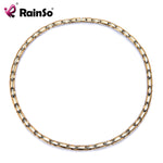 RainSo Power Necklaces Bio Energy Healing Germanium Infrared Negative ions Magnetic Necklace for Women Therapy Healthy Collar