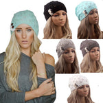 Winter Warm Women New Knitted Caps Beret Hat Knitted Beanie Fashion Hats With Buttons