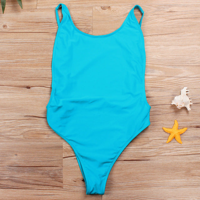 Ariel Sarah 2018 New Thong One Piece Swimsuit Swimwear Women Solid Monokini Bodysuit Women Piece Swimsuit Maillot De Bain Femme
