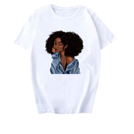 Black Girl Magic Melanin T Shirt Natural Curly Hair Beauty