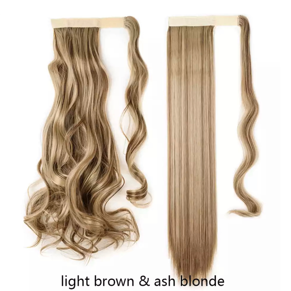 Light Brown Ash Blonde Mix Ponytail Hair Extension - lexinoelbeauty.com