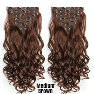 Curly Hair Extensions Clip In 22 inches Multiple Colors - lexinoelbeauty.com