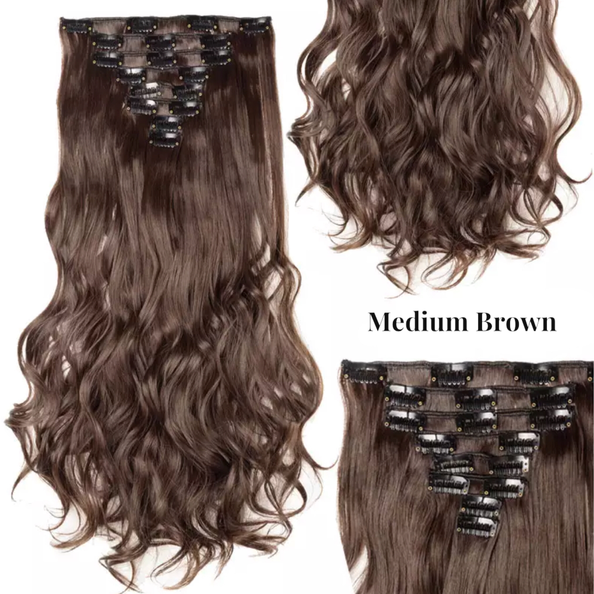 Lexi Noel Beauty 8 Piece 16 Clip In Hair Synthetic Extensions - lexinoelbeauty.com