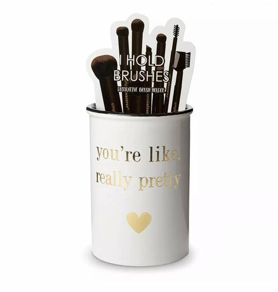 Makeup Brush Organizer You're Like Really Pretty - lexinoelbeauty.com