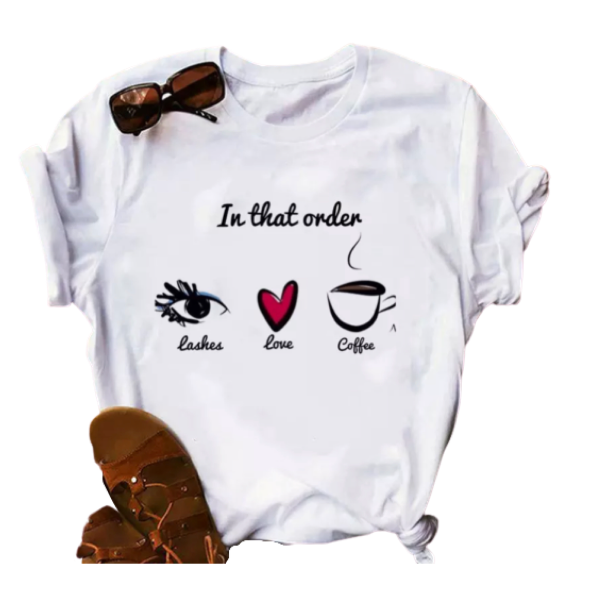 Lashes Coffee Love  T shirt