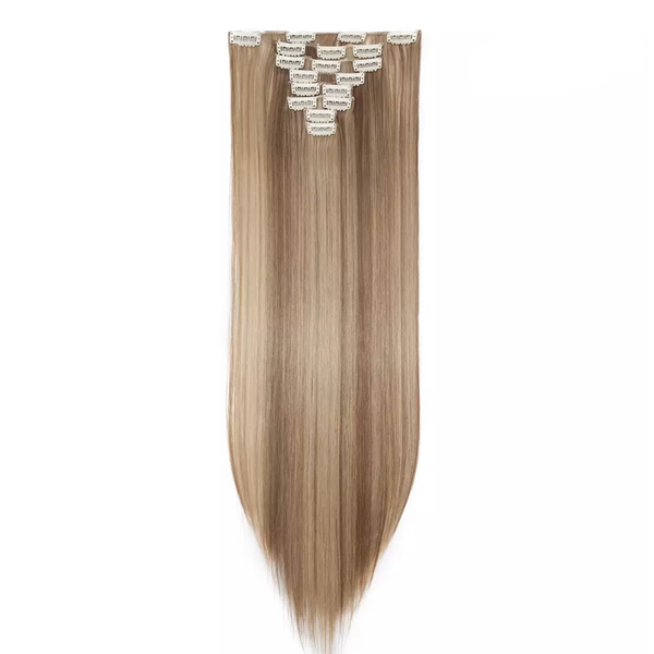 Blonde Mix Hair Extensions Clip In - lexinoelbeauty.com